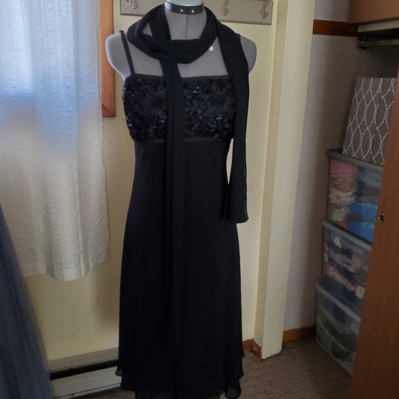 JS Collections Dresses & Skirts - Black Beaded Gown